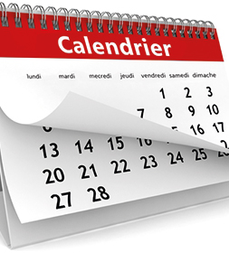 Formations/Examens Calendrier des dates  d'inscription et dates d'examen